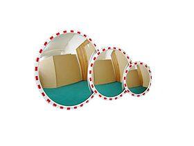 Зеркало дорожное (уличное) сферическое, с окантовкой, круглое диаметр 600 мм [CLONE]