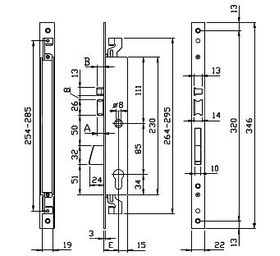 Электрозамок накладной ISEO  5213-20