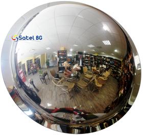 Купольное зеркало сферическое, безопасности для помещений, диаметр 600 мм