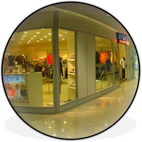 Сферическое зеркало безопасности, антикражное для помещений, диаметр 800 мм