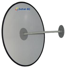 Сферическое зеркало безопасности, антикражное для помещений, диаметр 500 мм